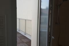 Vue terrasse de la salle de bain du 5ème étage